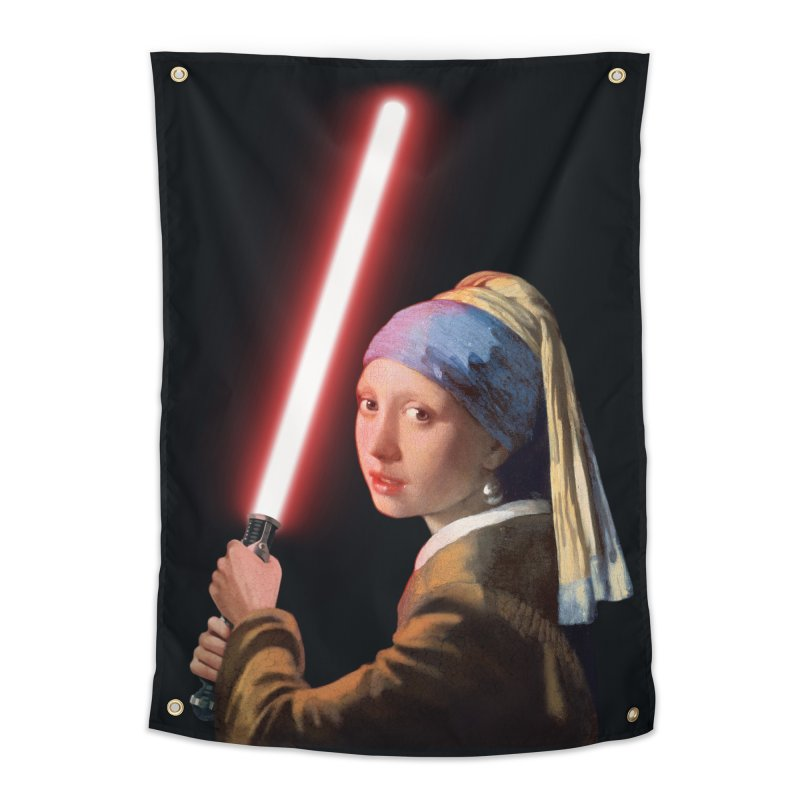 Girl with the Lightsaber Home Tapestry by steveash's Artist Shop