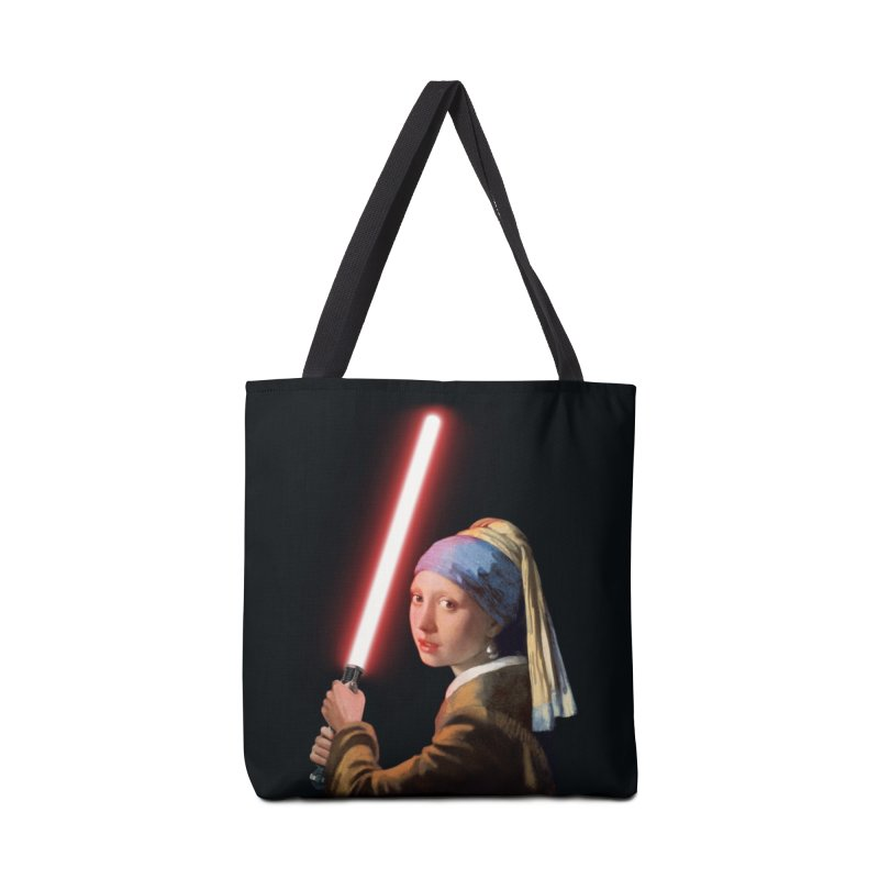 Girl with the Lightsaber Accessories Bag by steveash's Artist Shop