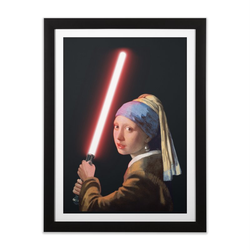 Girl with the Lightsaber Home Framed Fine Art Print by steveash's Artist Shop