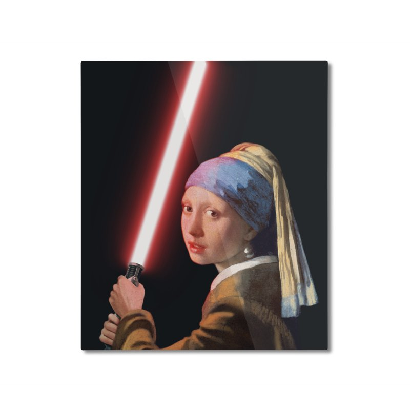 Girl with the Lightsaber Home Mounted Aluminum Print by steveash's Artist Shop