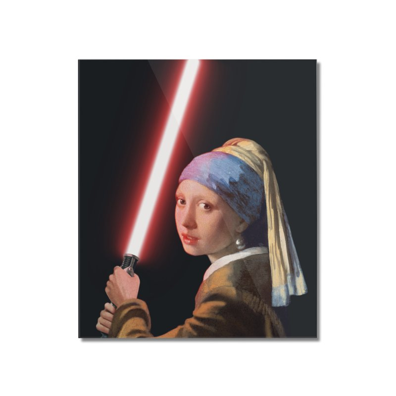 Girl with the Lightsaber Home Mounted Acrylic Print by steveash's Artist Shop