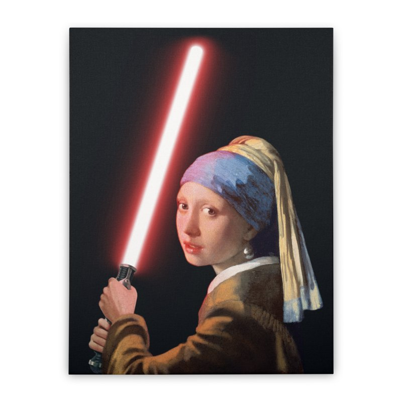 Girl with the Lightsaber Home Stretched Canvas by steveash's Artist Shop