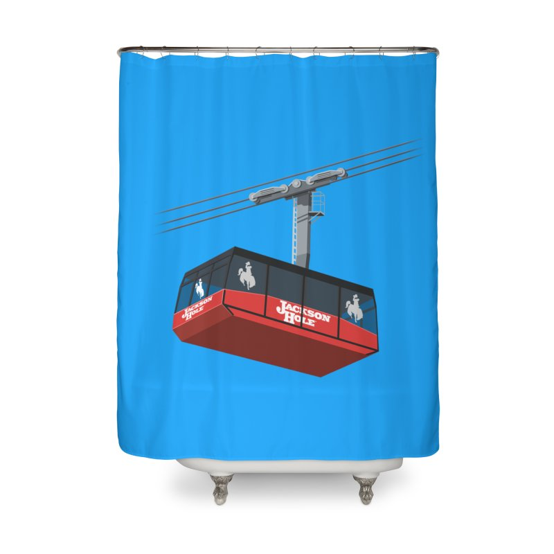 Jackson Hole Ski Resort Home Shower Curtain by steveash's Artist Shop