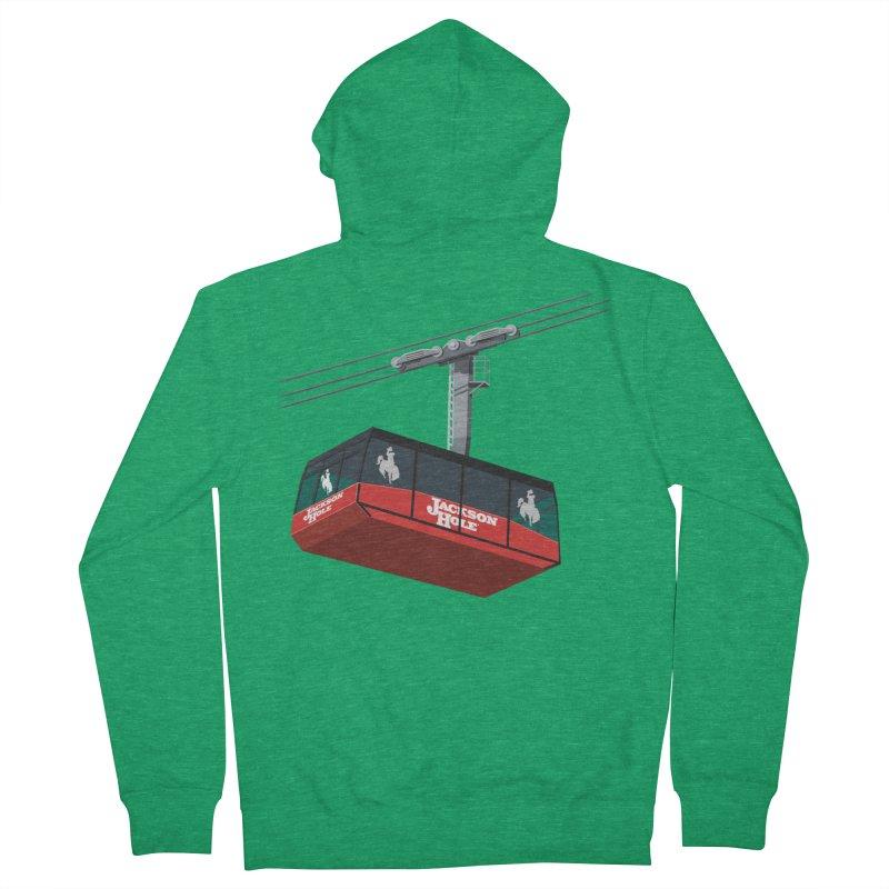 Jackson Hole Ski Resort Men's Zip-Up Hoody by steveash's Artist Shop