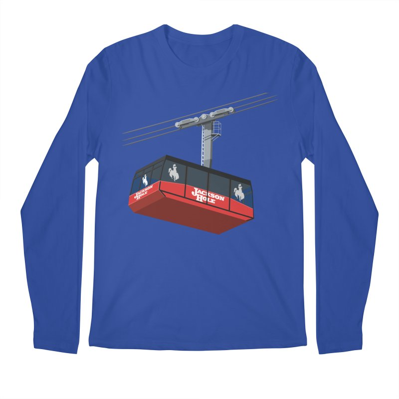 Jackson Hole Ski Resort Men's Longsleeve T-Shirt by steveash's Artist Shop