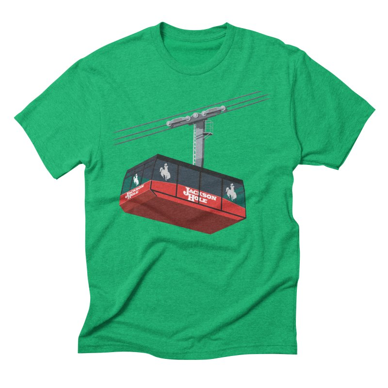 Jackson Hole Ski Resort Men's Triblend T-Shirt by steveash's Artist Shop