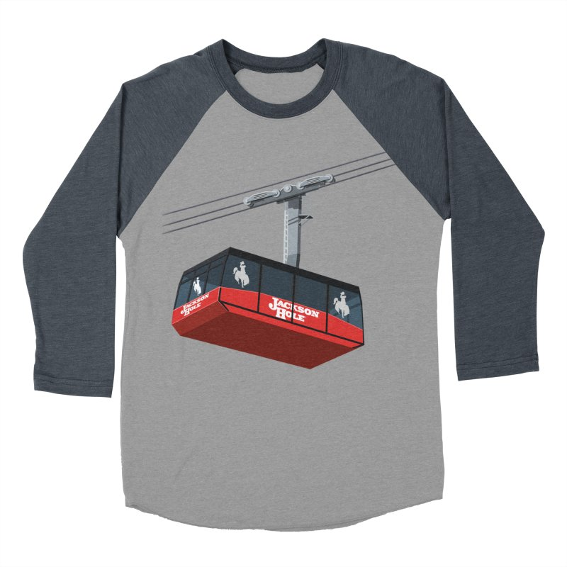 Jackson Hole Ski Resort Men's Baseball Triblend Longsleeve T-Shirt by steveash's Artist Shop