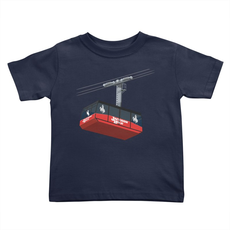 Jackson Hole Ski Resort Kids Toddler T-Shirt by steveash's Artist Shop
