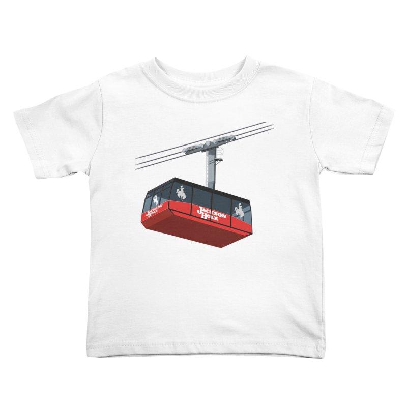Jackson Hole Ski Resort Kids Toddler T-Shirt by steveash's Artist Shop