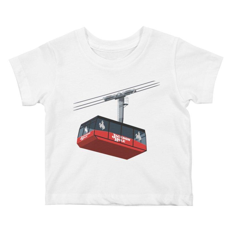 Jackson Hole Ski Resort Kids Baby T-Shirt by steveash's Artist Shop