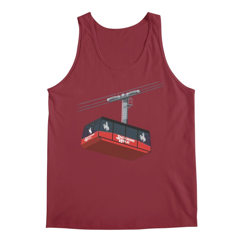 Jackson Hole Ski Resort Men's Tank by steveash's Artist Shop