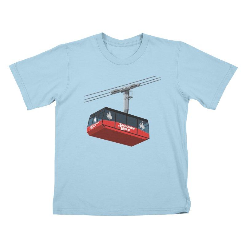 Jackson Hole Ski Resort Kids T-Shirt by steveash's Artist Shop