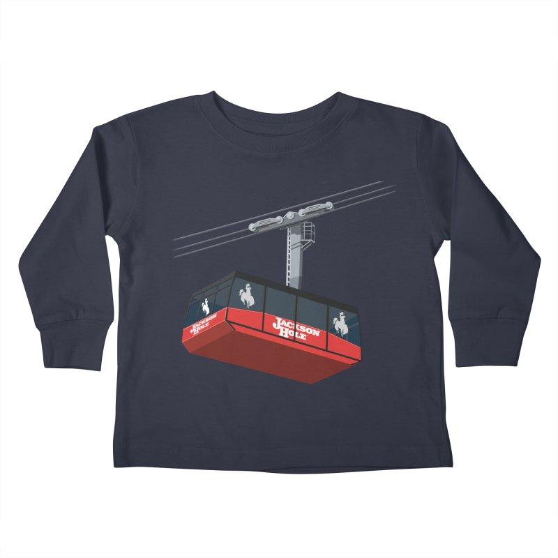 Jackson Hole Ski Resort Kids Toddler Longsleeve T-Shirt by steveash's Artist Shop