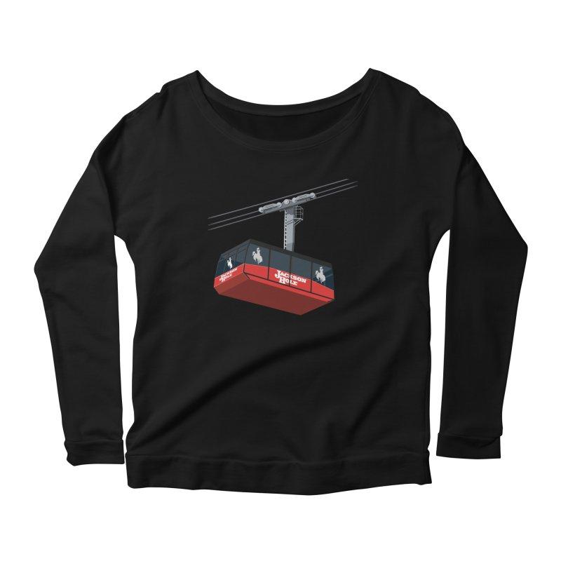 Jackson Hole Ski Resort Women's Scoop Neck Longsleeve T-Shirt by steveash's Artist Shop