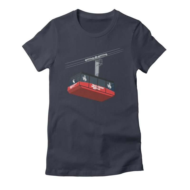 Jackson Hole Ski Resort Women's Fitted T-Shirt by steveash's Artist Shop
