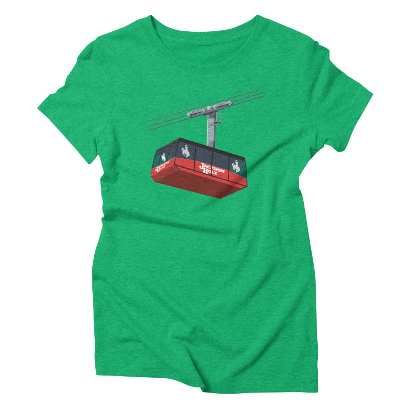 Jackson Hole Ski Resort Women's Triblend T-Shirt by steveash's Artist Shop