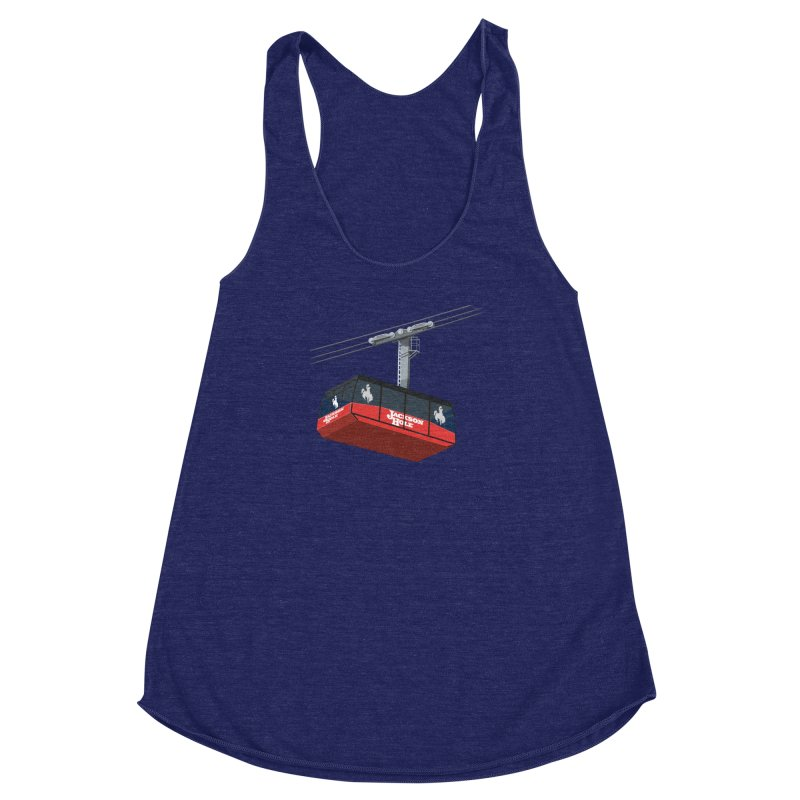 Jackson Hole Ski Resort Women's Racerback Triblend Tank by steveash's Artist Shop