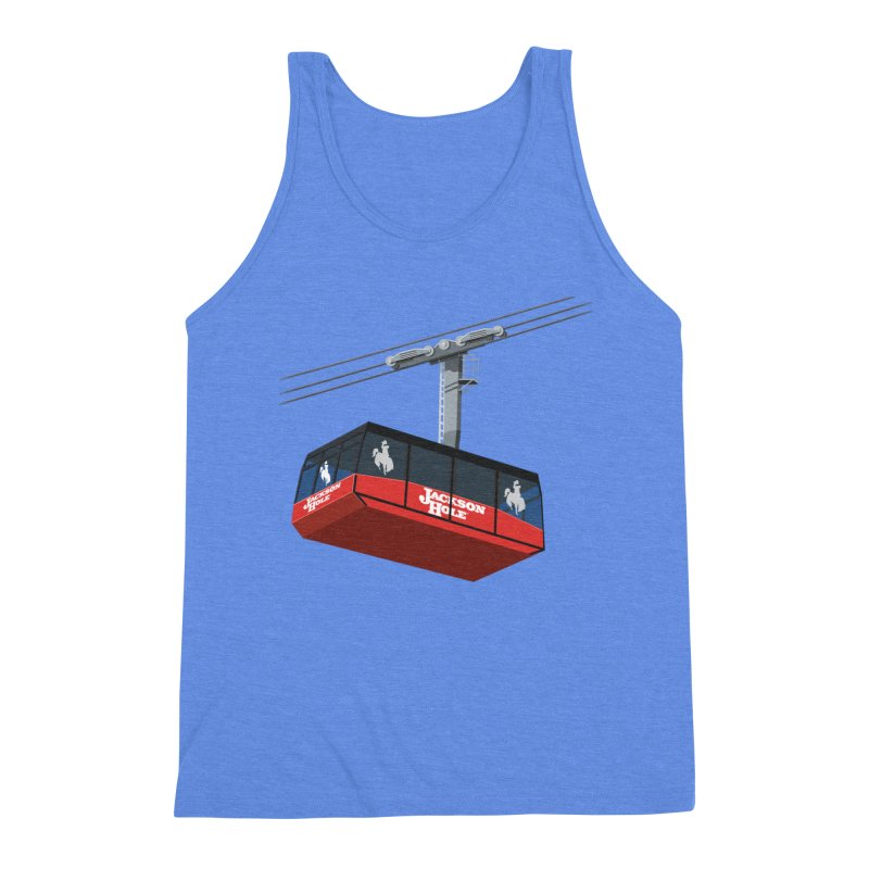 Jackson Hole Ski Resort Men's Triblend Tank by steveash's Artist Shop