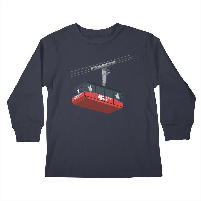 Jackson Hole Ski Resort Kids Longsleeve T-Shirt by steveash's Artist Shop
