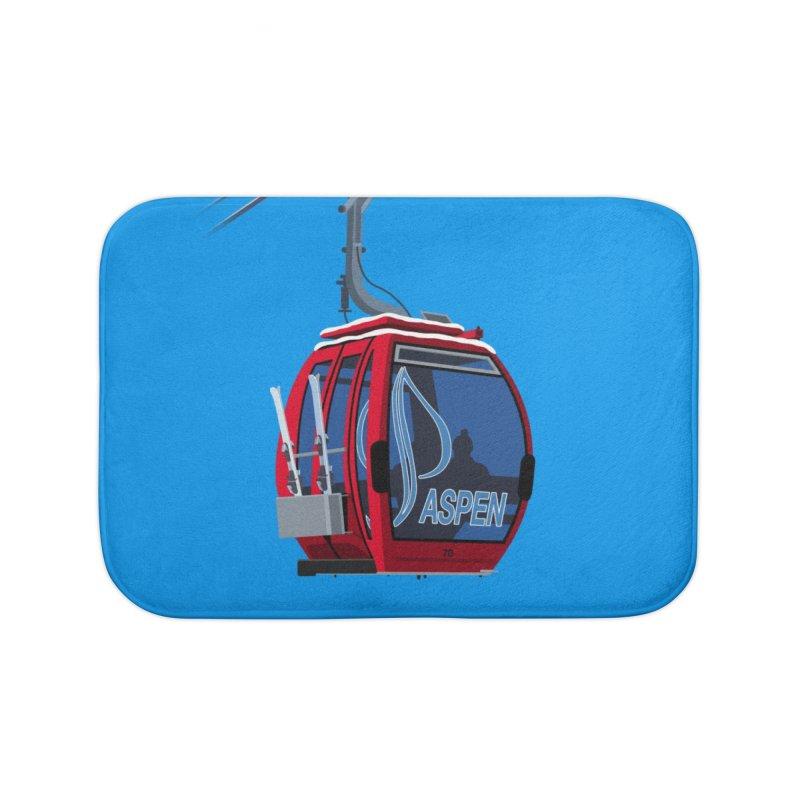 Aspen Ski Home Bath Mat by steveash's Artist Shop