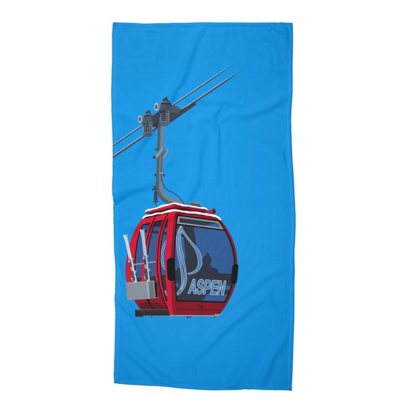 Aspen Ski Accessories Beach Towel by steveash's Artist Shop