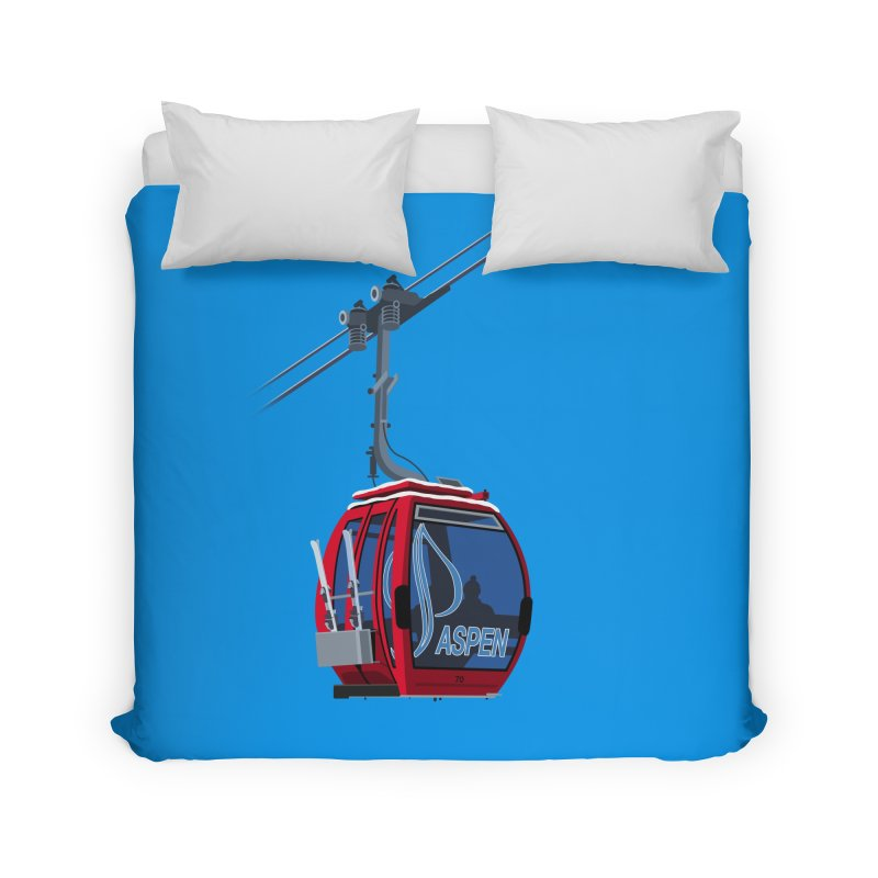 Aspen Ski Home Duvet by steveash's Artist Shop