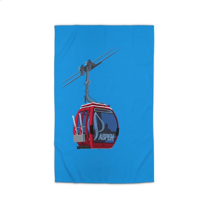 Aspen Ski Home Rug by steveash's Artist Shop