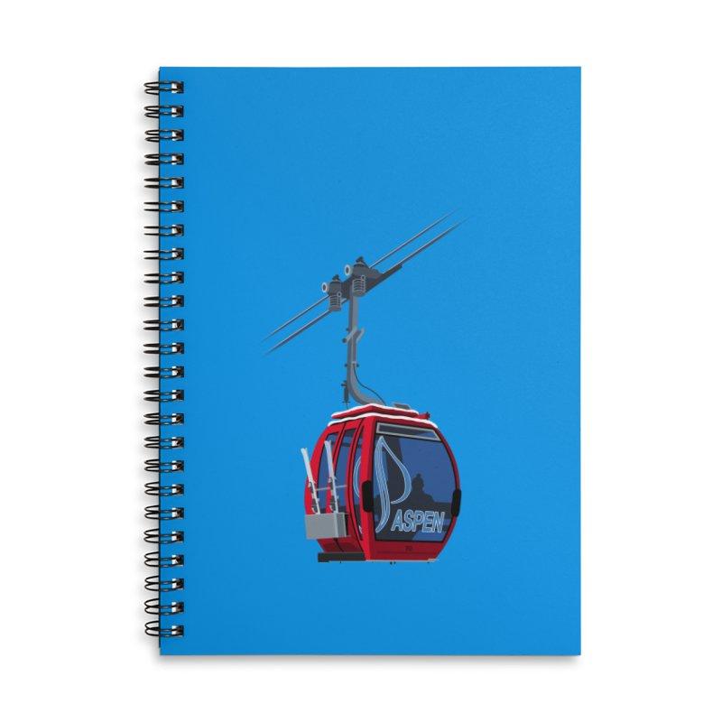 Aspen Ski Accessories Lined Spiral Notebook by steveash's Artist Shop