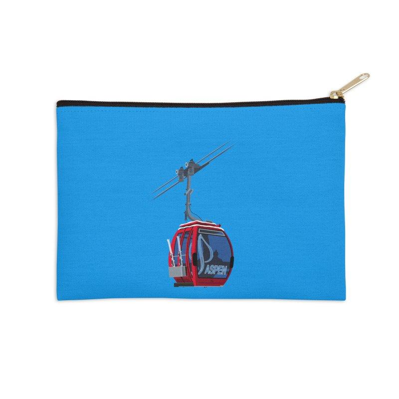 Aspen Ski Accessories Zip Pouch by steveash's Artist Shop