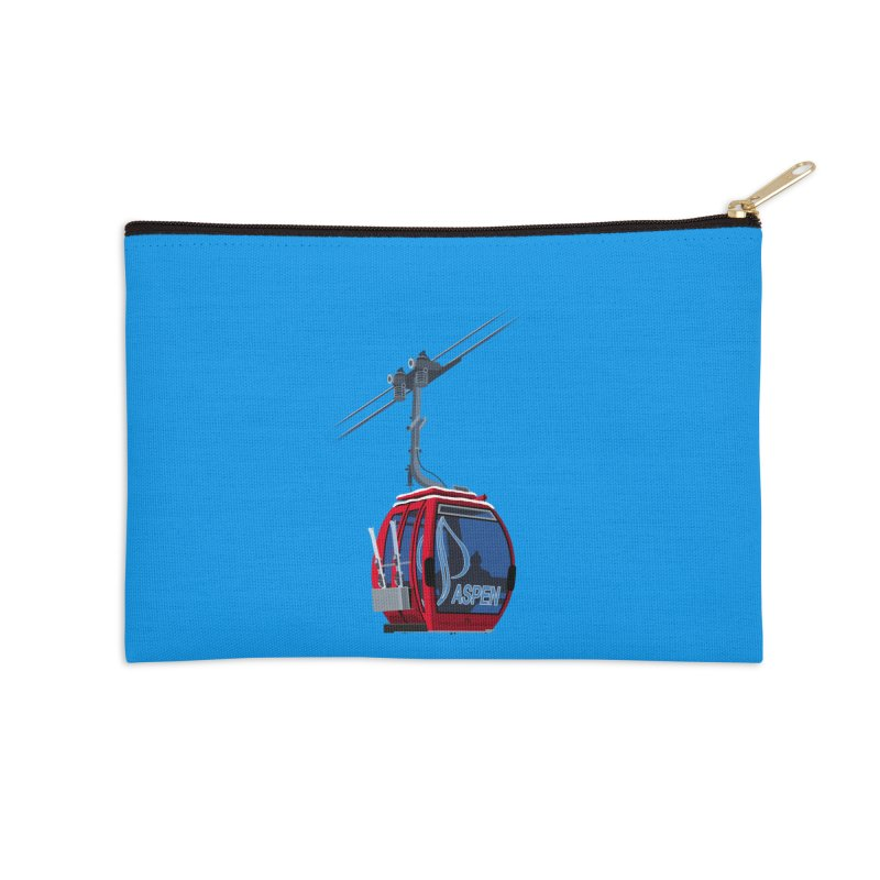 Aspen Ski Accessories Zip Pouch by steveash's Artist Shop