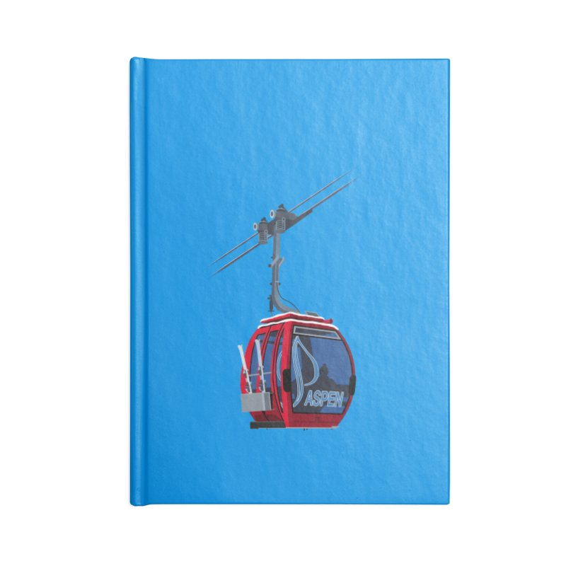 Aspen Ski Accessories Notebook by steveash's Artist Shop