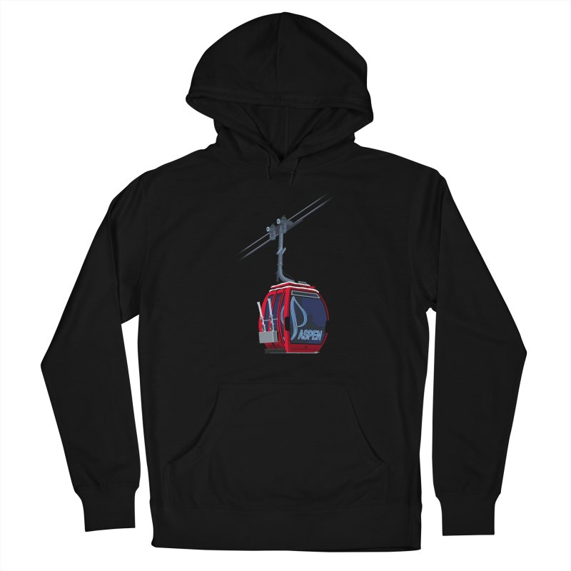 Aspen Ski Men's French Terry Pullover Hoody by steveash's Artist Shop