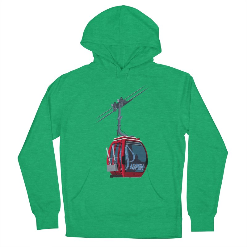 Aspen Ski Men's French Terry Pullover Hoody by steveash's Artist Shop