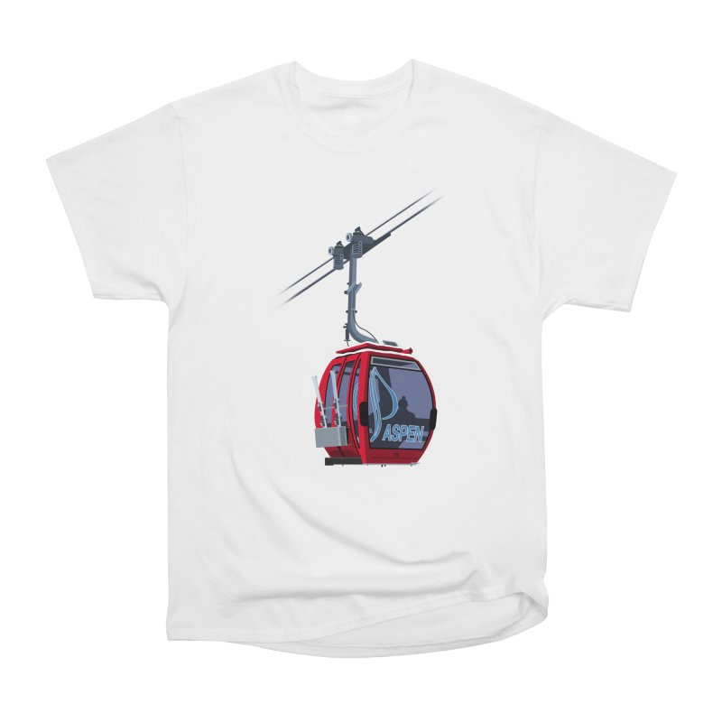Aspen Ski Men's Heavyweight T-Shirt by steveash's Artist Shop