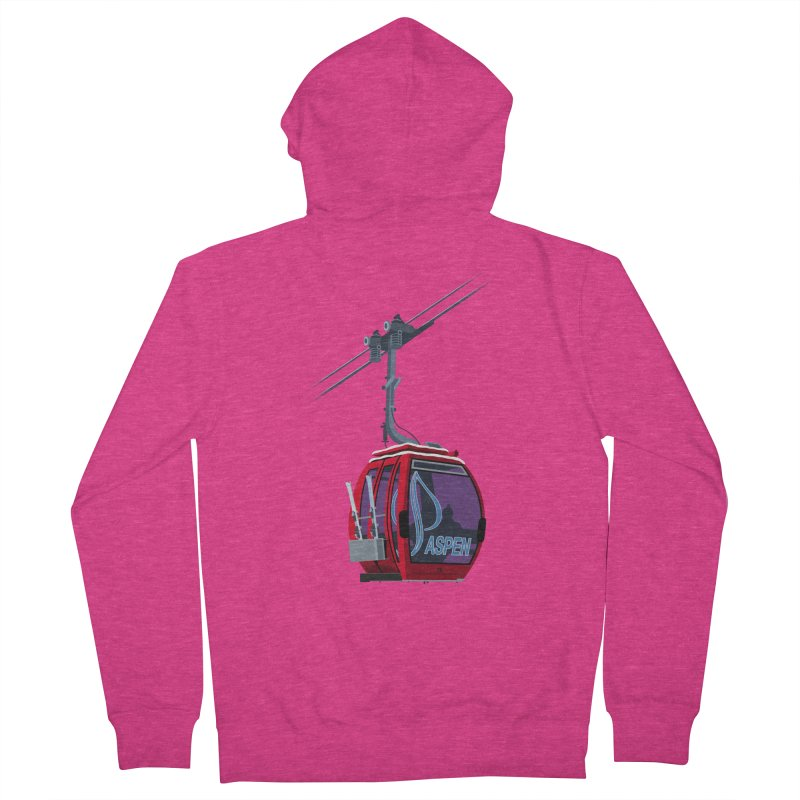 Aspen Ski Women's French Terry Zip-Up Hoody by steveash's Artist Shop