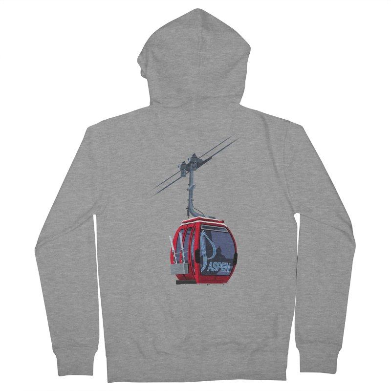 Aspen Ski Men's Zip-Up Hoody by steveash's Artist Shop