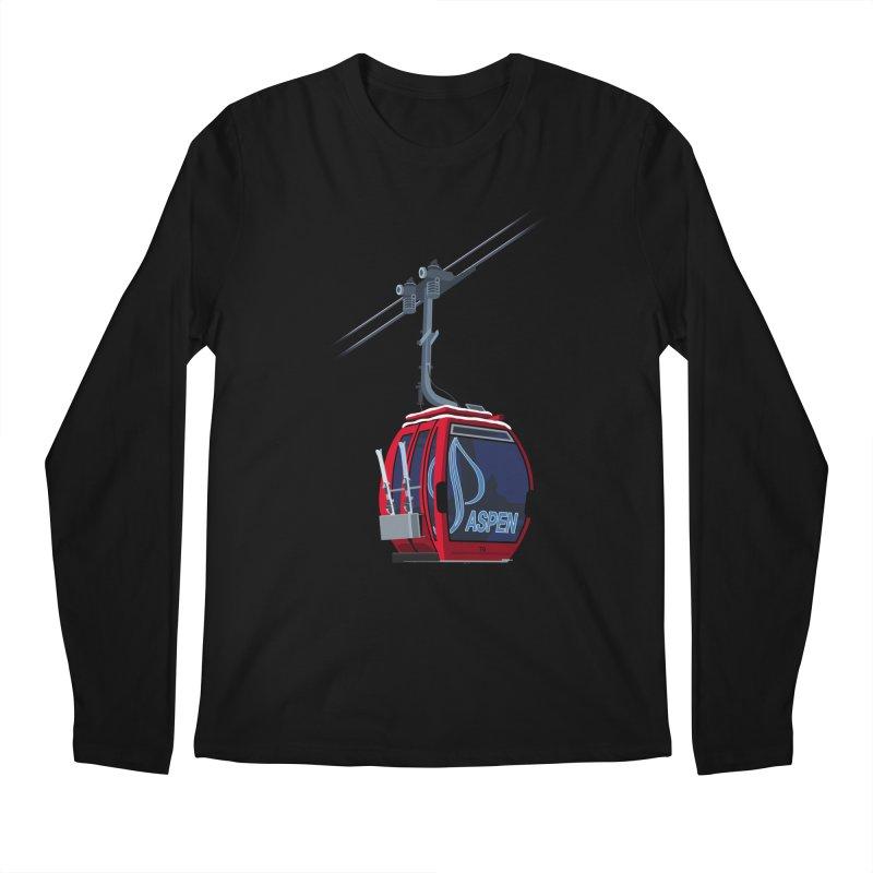 Aspen Ski Men's Regular Longsleeve T-Shirt by steveash's Artist Shop