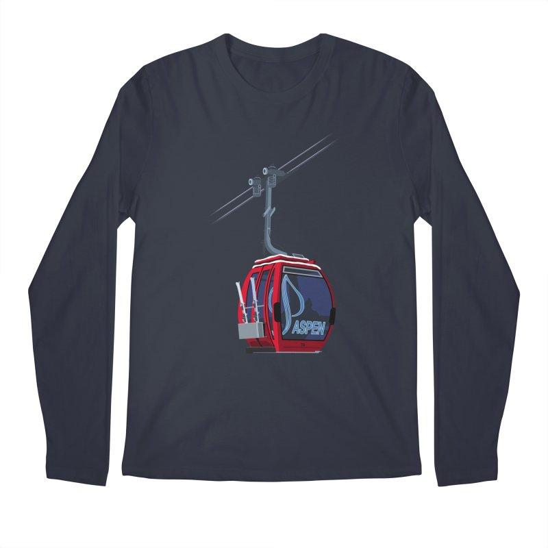 Aspen Ski Men's Longsleeve T-Shirt by steveash's Artist Shop