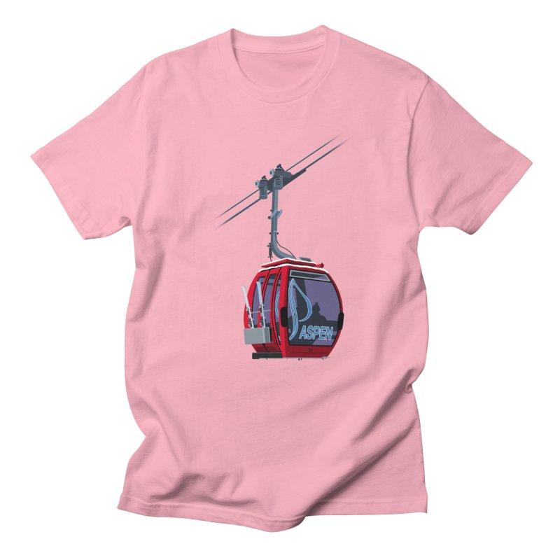 Aspen Ski Men's Regular T-Shirt by steveash's Artist Shop