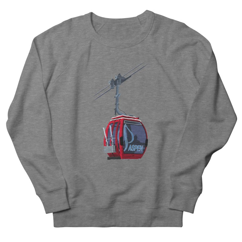 Aspen Ski Women's French Terry Sweatshirt by steveash's Artist Shop