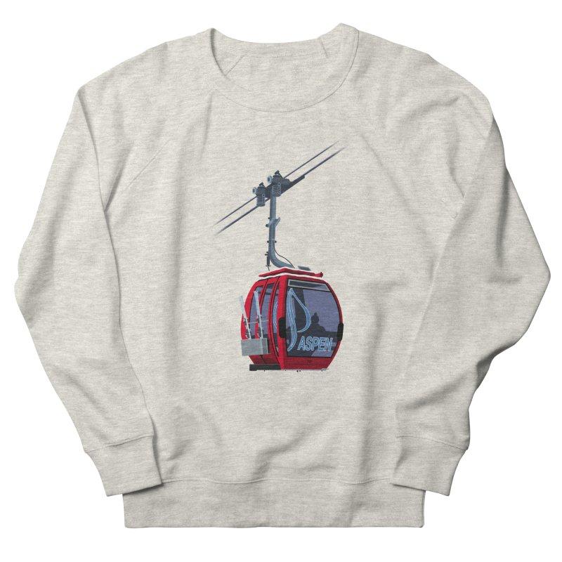 Aspen Ski Men's French Terry Sweatshirt by steveash's Artist Shop