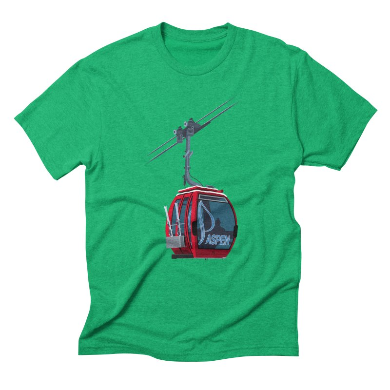Aspen Ski Men's Triblend T-Shirt by steveash's Artist Shop