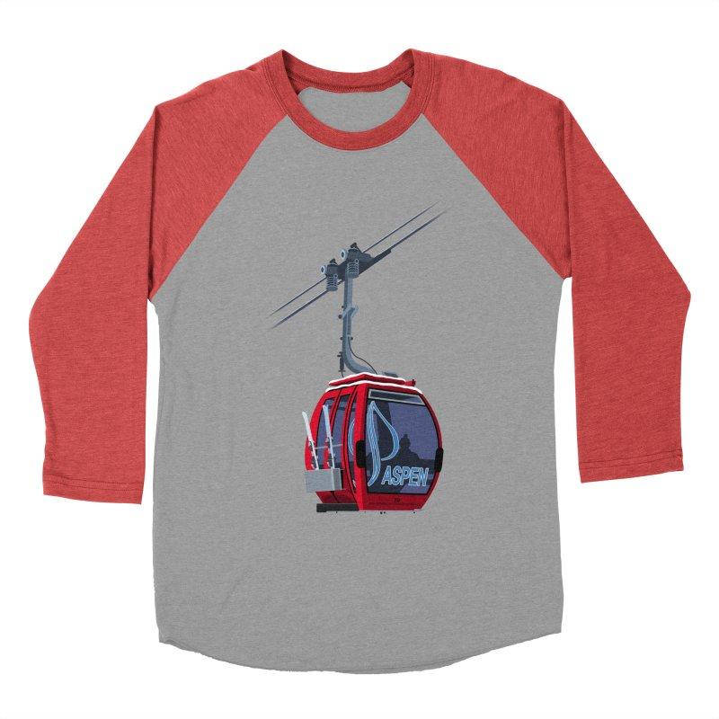 Aspen Ski Women's Baseball Triblend Longsleeve T-Shirt by steveash's Artist Shop