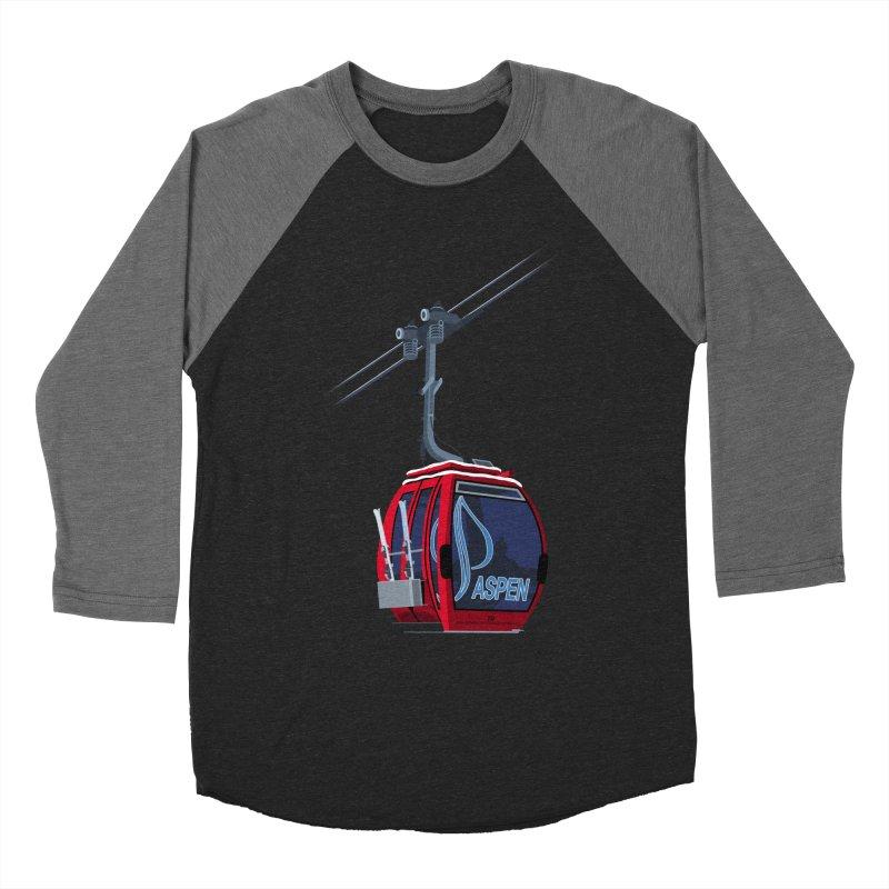 Aspen Ski Men's Baseball Triblend T-Shirt by steveash's Artist Shop