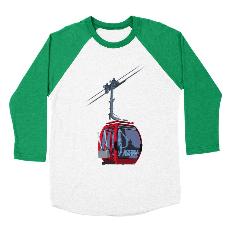 Aspen Ski Men's Baseball Triblend Longsleeve T-Shirt by steveash's Artist Shop