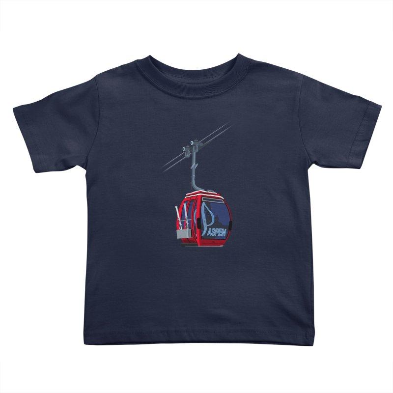 Aspen Ski Kids Toddler T-Shirt by steveash's Artist Shop