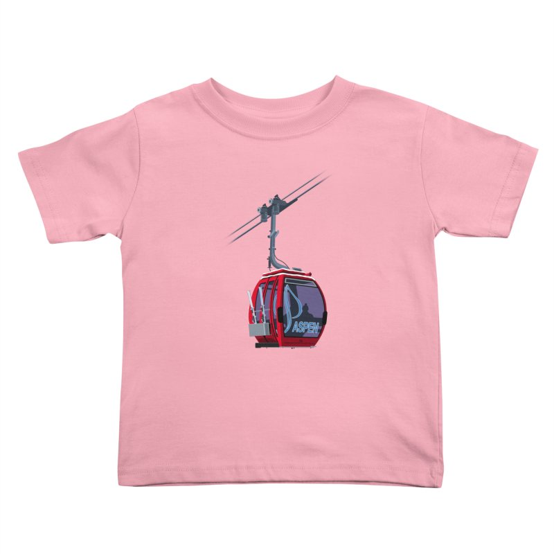 Aspen Ski Kids Toddler T-Shirt by steveash's Artist Shop
