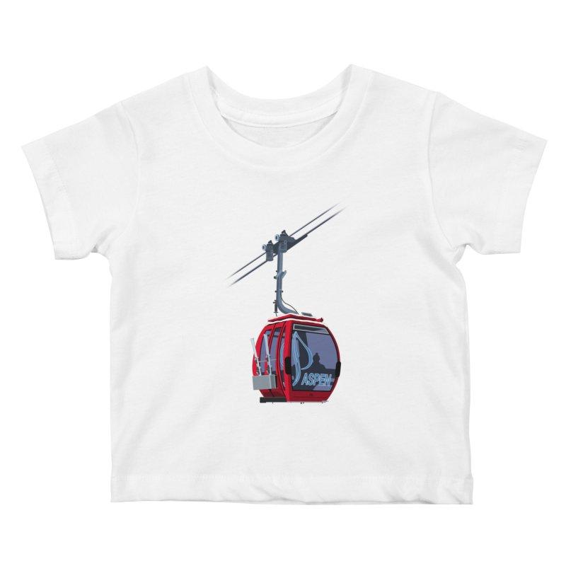 Aspen Ski Kids Baby T-Shirt by steveash's Artist Shop