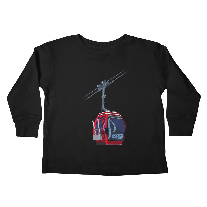 Aspen Ski Kids Toddler Longsleeve T-Shirt by steveash's Artist Shop