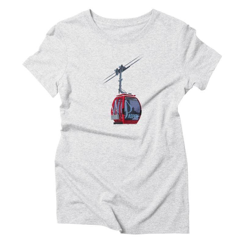 Aspen Ski Women's T-Shirt by steveash's Artist Shop